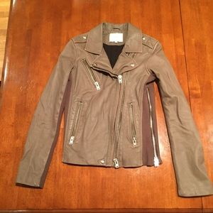 IRO Vika Leather Jacket Lamb Biker 36 US 2 4 Small